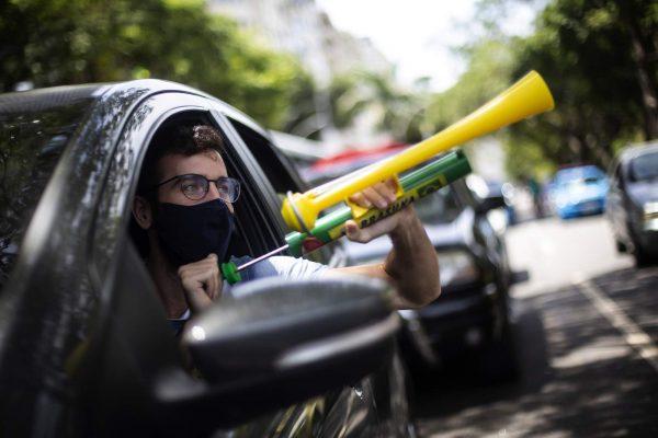 Thousands take to streets protesting Brazil's Bolsonaro