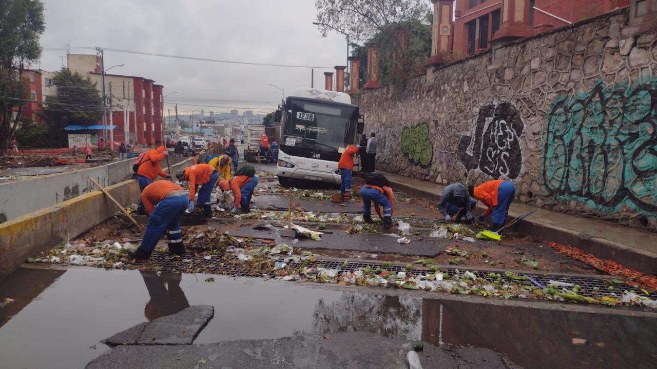 Atiende el Municipio de Querétaro las afectaciones derivadas de la lluvia matutina