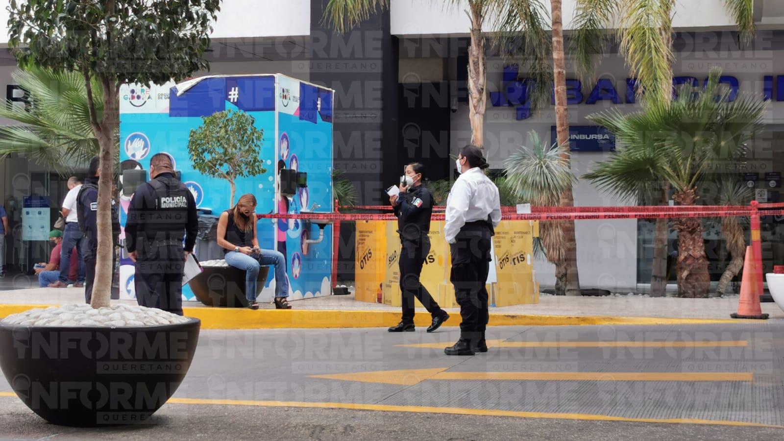 Hombre muere por presunto infarto en plaza comercial de Tejeda