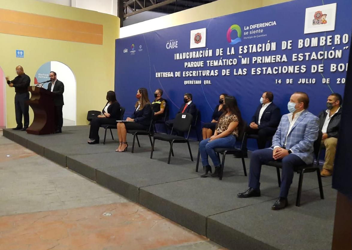 Inauguran estación de Bomberos en el Parque Bicentenario de Querétaro