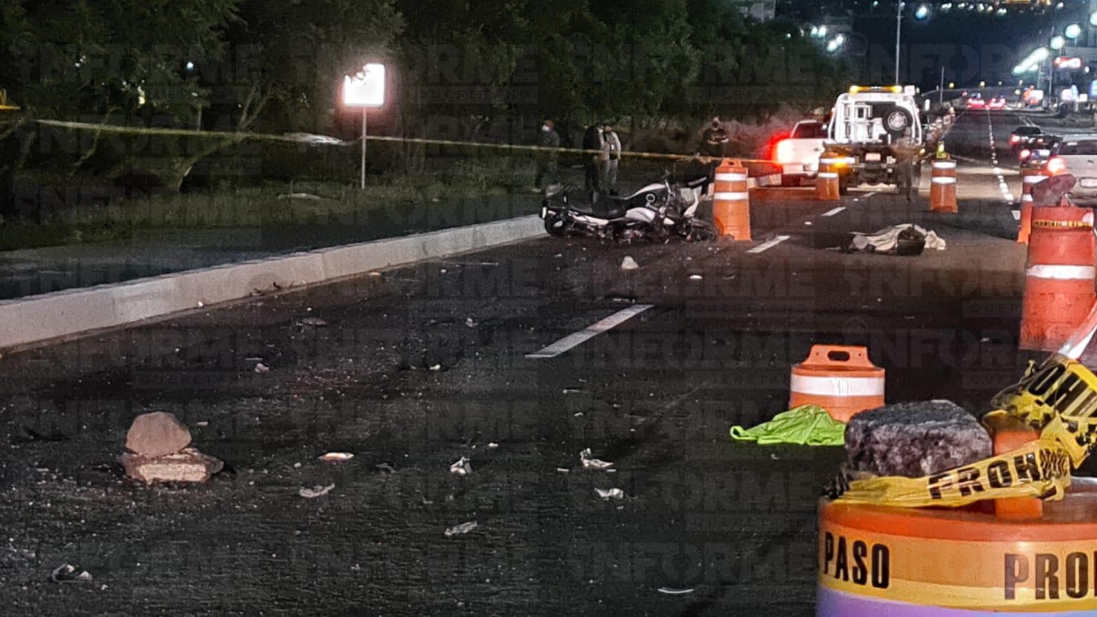Muere motociclista en brutal accidente en el Anillo Vial Junipero Serra