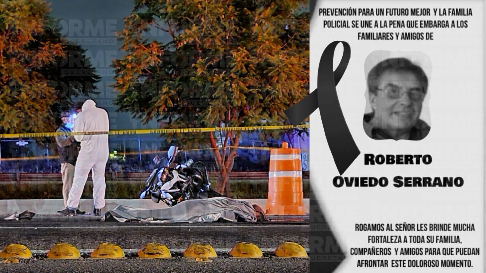 Ex comandante de PID motociclista que murió al chocar con una piedra