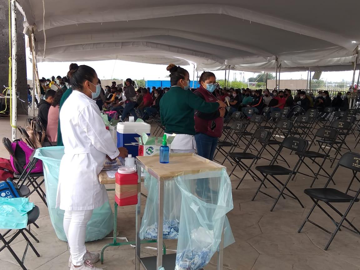 Avanza exitosamente la campaña de vacunación contra Covid-19 en Pedro Escobedo