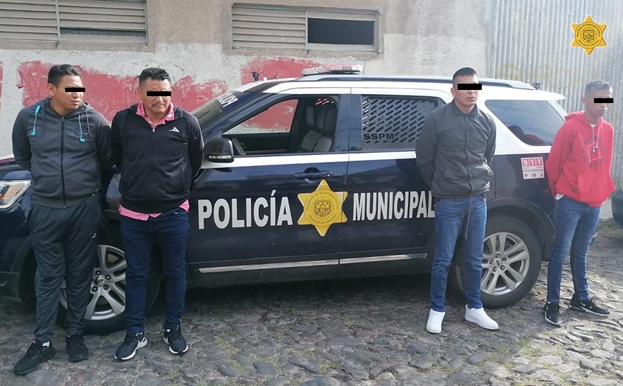 Policías del municipio de Querétaro desarticulan banda de robo a comercio