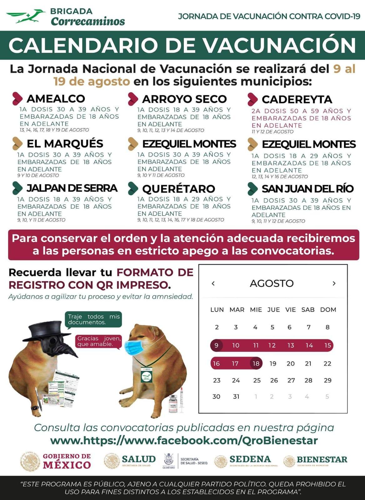 Esta semana vacunarán en ocho municipios