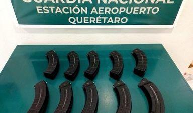 Guardia Nacional asegura diez cargadores desabastecidos en el AIQ