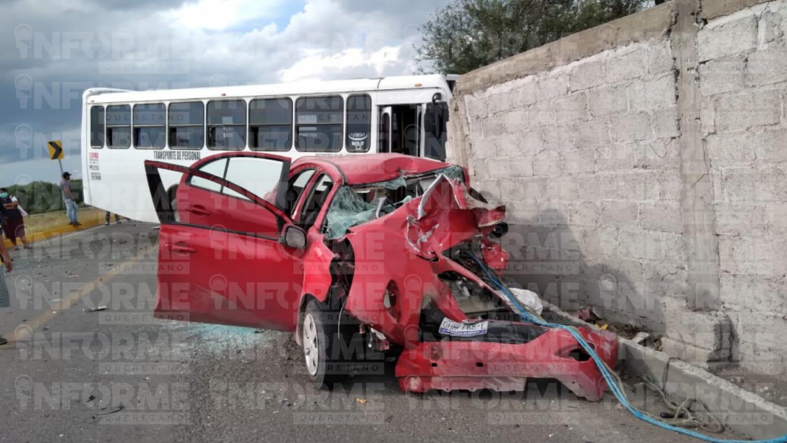 Brutal encontronazo en la carretera La Llave – La Valla San Juan del Río