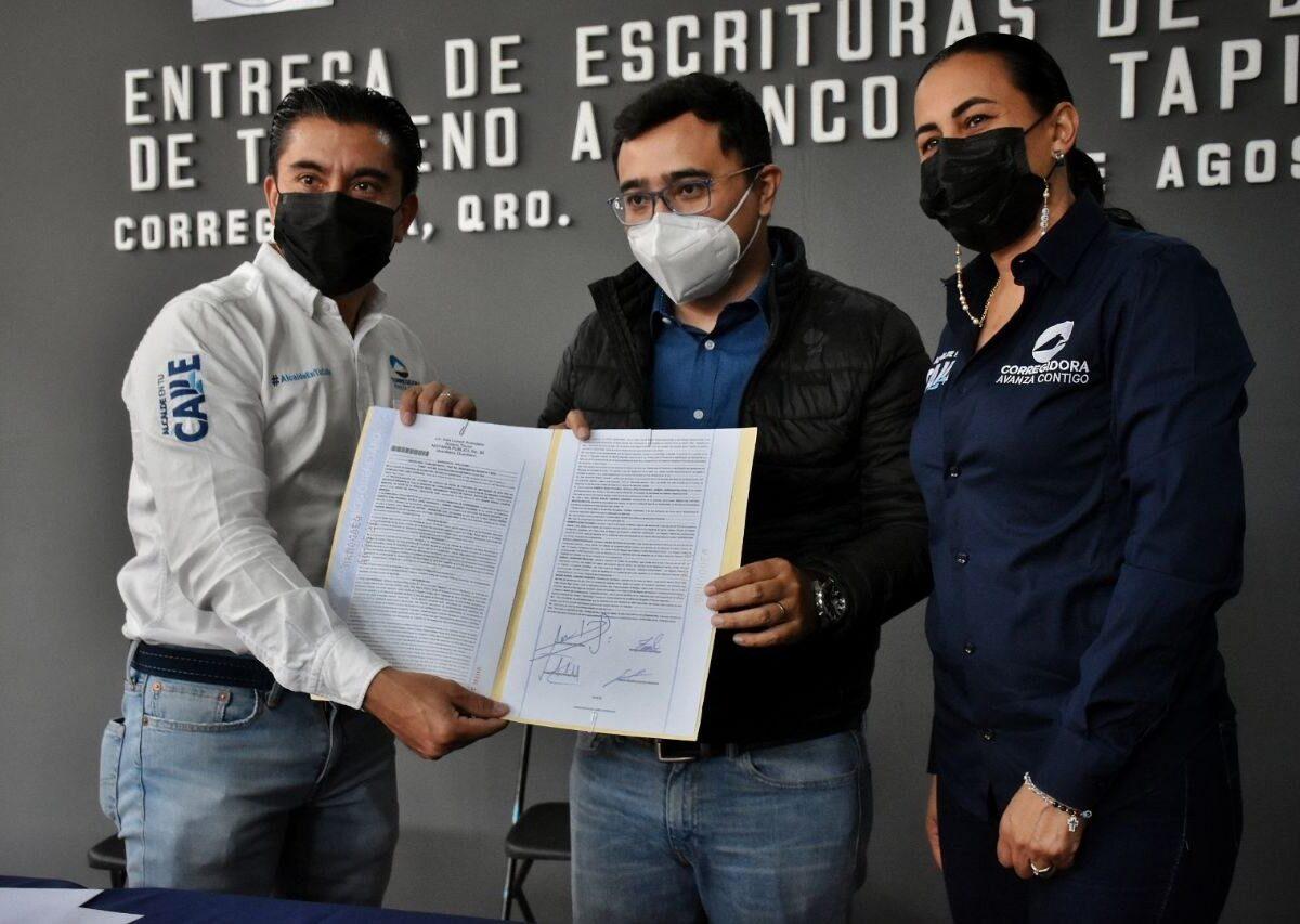 Municipio de Corregidora dona predio a Banco de Tapitas