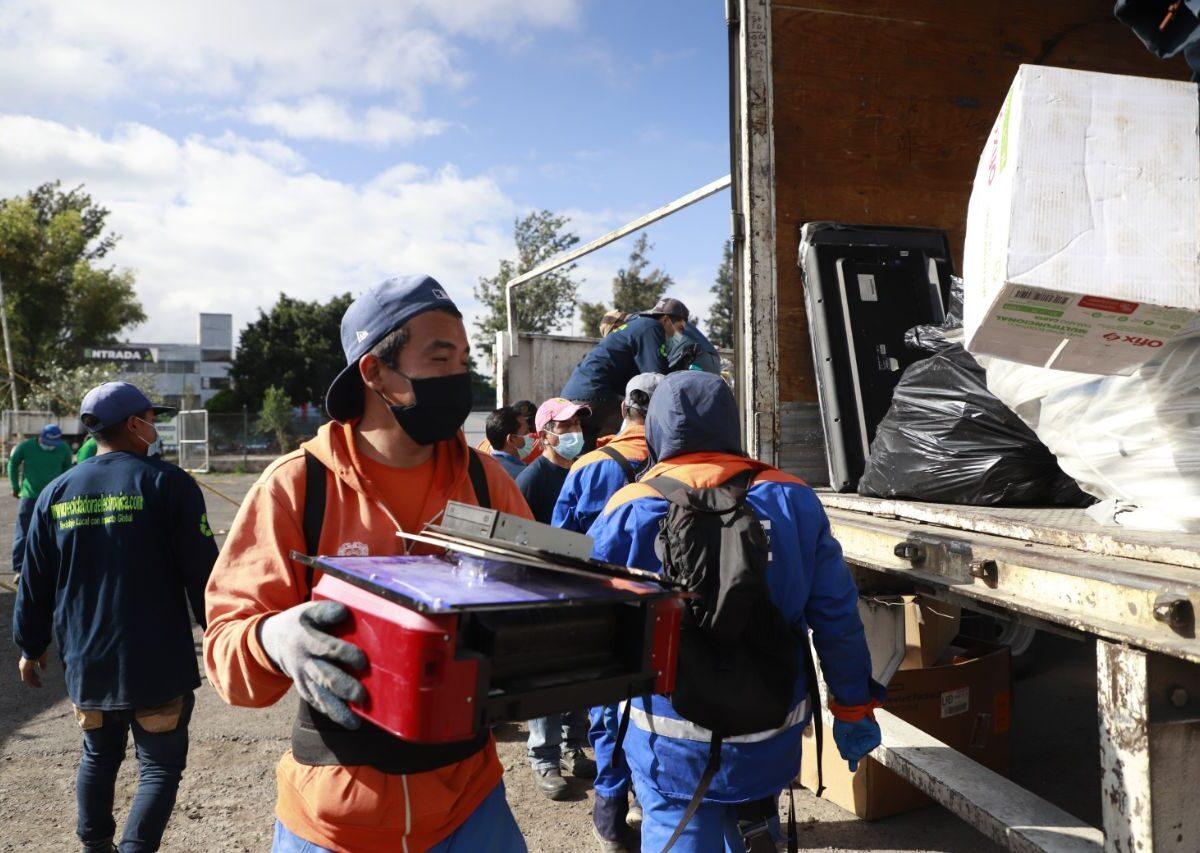 Mega jornada de recolección de residuos en el Auditorio Josefa Ortíz de Domínguez