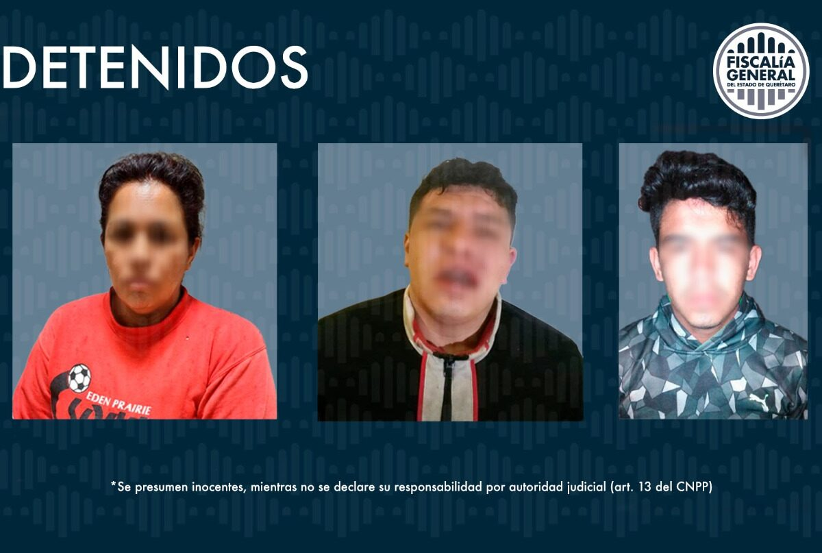 Elementos de la PID detienen a 3 en San Juan del Río, relacionados con robo de vehículo
