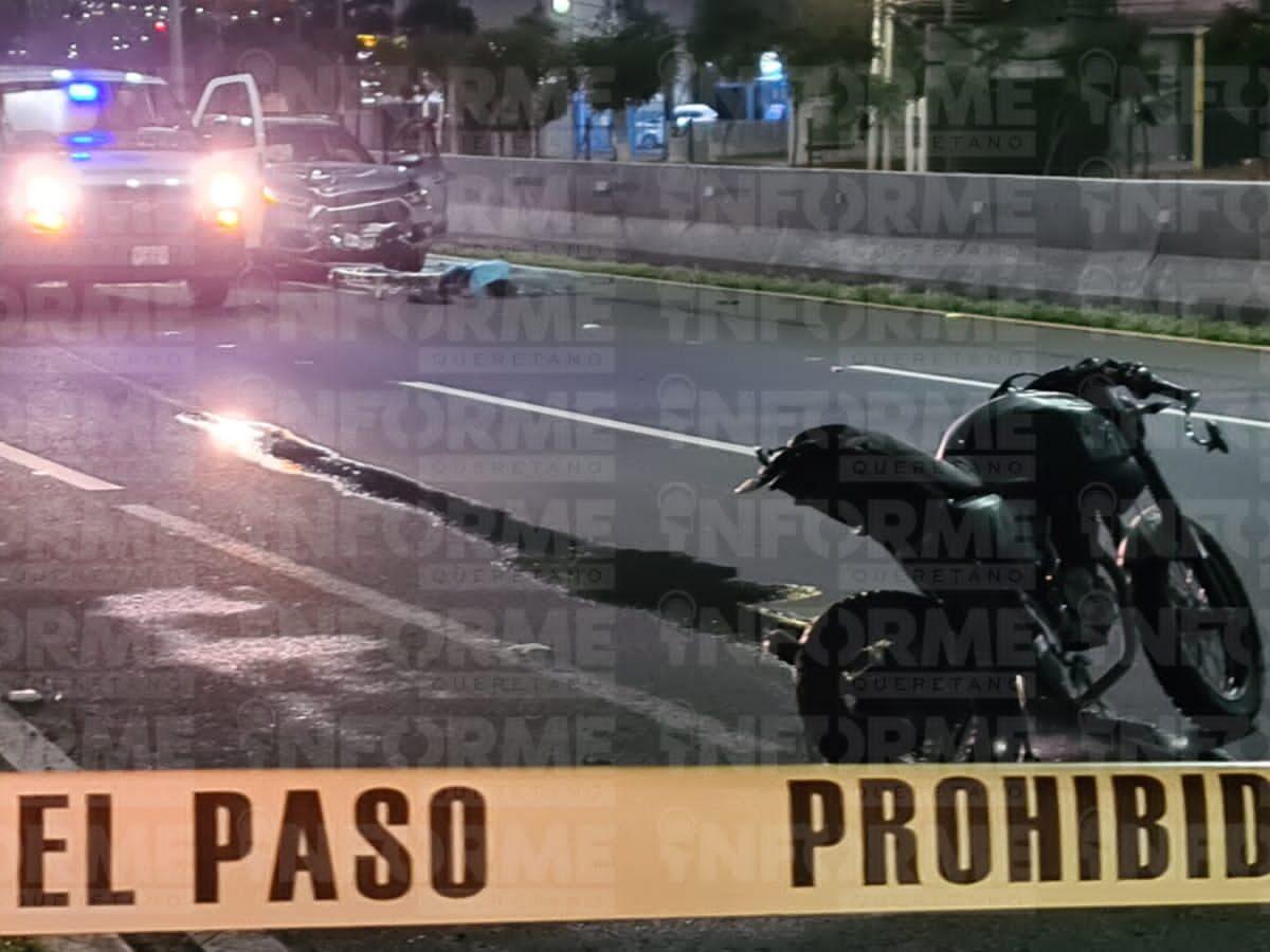 Camioneta impacta a motociclista y muere en Bernardo Quintana