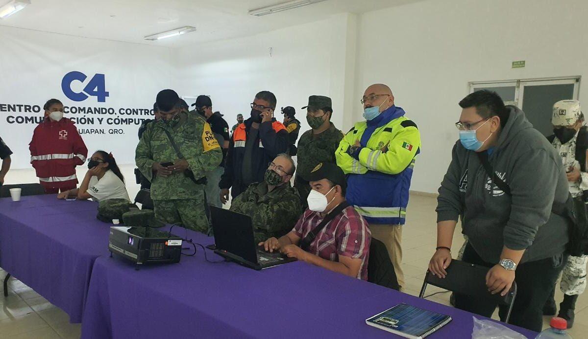 Sobre la contingencia que se mantiene en el Municipio De Tequisquiapan al alcanzar La Presa Centenario y el río San Juan su máxima capacidad