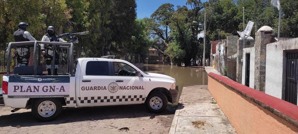 Guardia Nacional realiza operativo contra robos en casas afectadas de SJR y Tequisquiapan