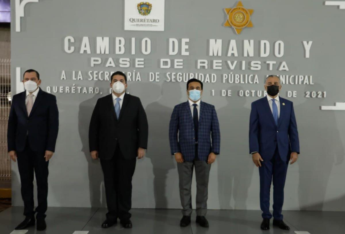 Encabeza Luis Nava cambio de mando en la Secretaría de Seguridad Pública Municipal