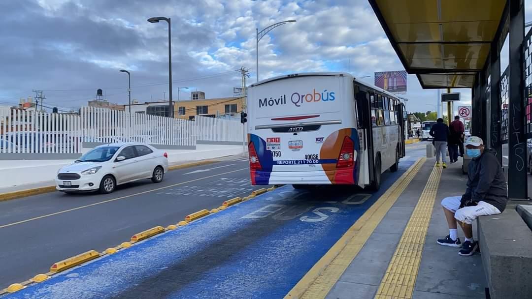 El instituto Queretano del transporte (IQT), anuncio que hoy vuelven a transitar con normalidad las rutas del transporte público.
