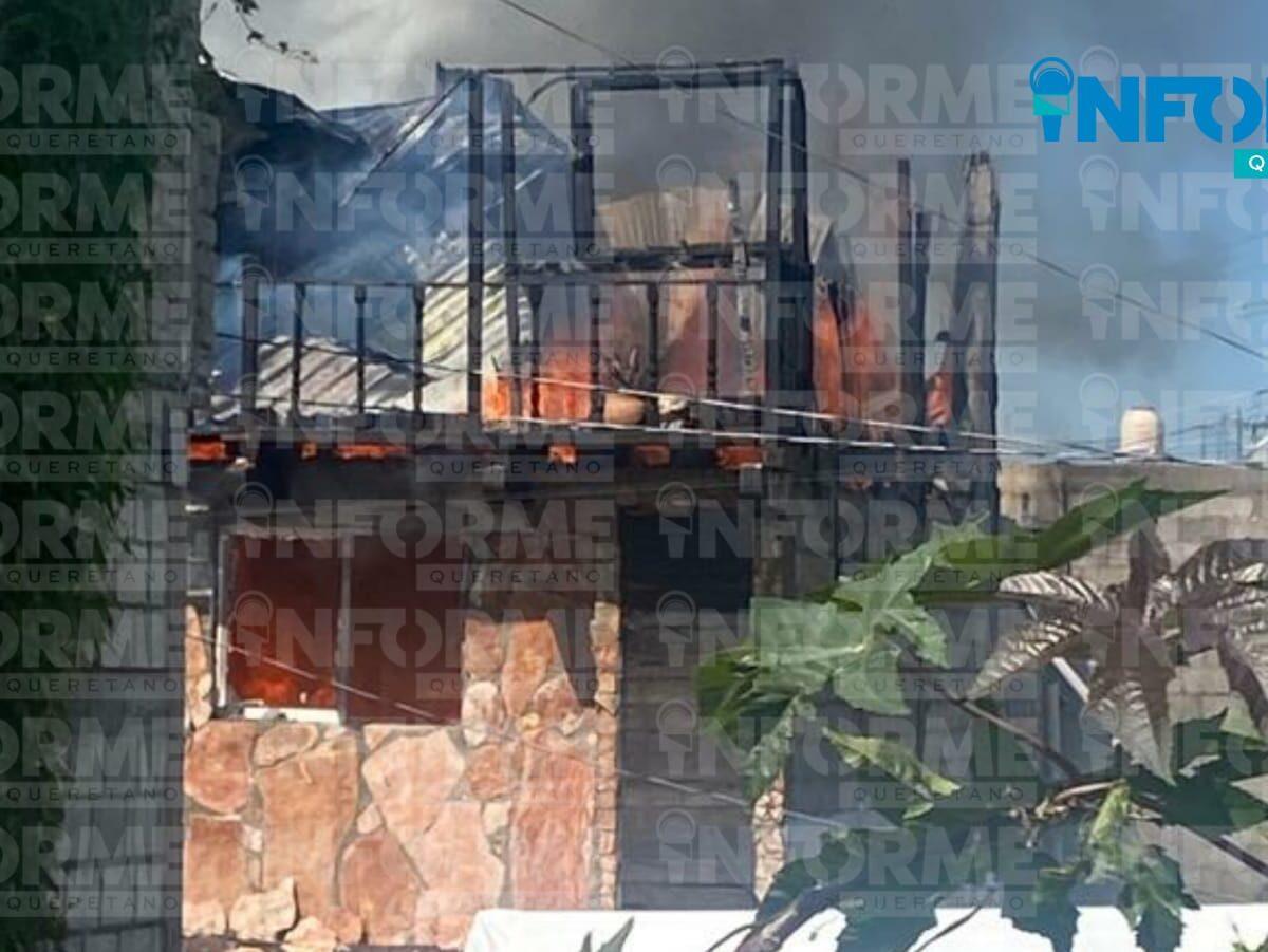 Arde casa habitación en Nuevo Plan Santa María