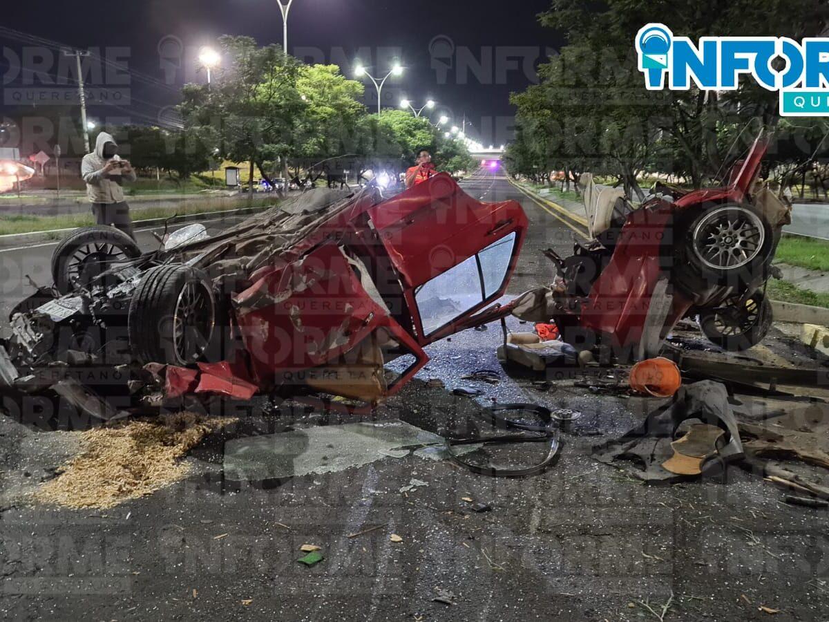 Salieron vivos tras brutal choque en el Paseo de la República